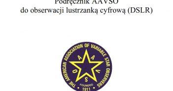 Okładka polskiej wersji podręcznika do pomiarów jasności gwiazd zmiennych za pomocą DSLR / Credits - AAVSO