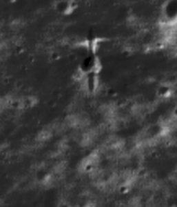 Krater po sondzie SMART-1 / Credits - P Stooke/B Foing et al 2017/ NASA/GSFC/Arizona State University