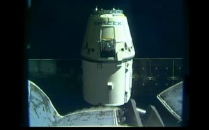 Kapsuła Dragon opuszcza ISS - 17 września 2017 / Credits - NASA TV