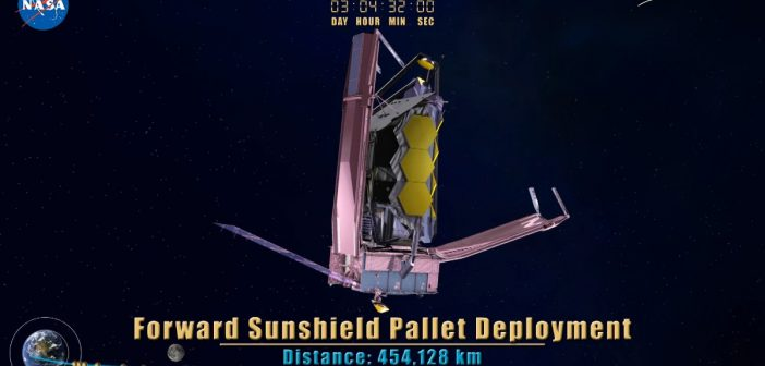 Ujęcie jednego z momentów uruchamiania JWST / Credits - NASA, Northrop Grumman, James Webb Space Telescope (JWST)
