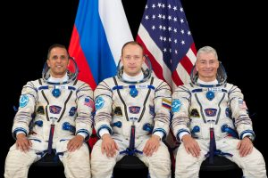 Załoga misji Sojuz MS-06 / Credits - NASA, Roskomos