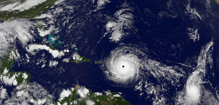 Zniszczenia huraganu Irma widziane z orbity