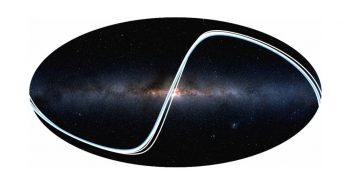 Strefy, w których widać planety naszego Układu Słonecznego. Pas idealny do detekcji Ziemi został zaznaczony kolorem niebieskim / Credits -2MASS / A. Mellinger / R. Wells