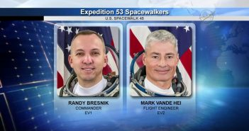Astronauci biorący udział w EVA-45 / Credits - NASA