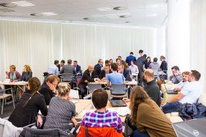 Spotkania firm z przedstawicielami przemysłu podczas spotkania informacyjnego akceleratora Space3ac / Credits - Space3ac