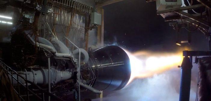 Test silnika BE-4 / Credits - Blue Origin