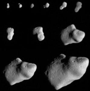 Obserwacje 951 Gaspra wykonane przez sondę Galileo / Credits - NASA, JPL