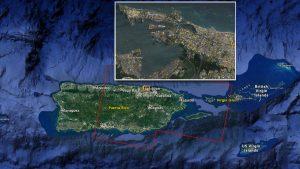 Mapa zniszczeń w San Juan, stolicy Portoryko, po przejściu huraganu Maria. / Credits - NASA, Caltech
