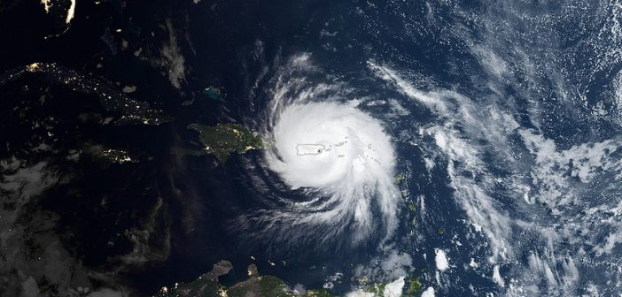 Huragan Maria nad Puerto Rico / Credits - NASA Earth Observatory