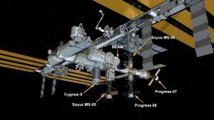 Miejsce przyłączenia pojazdu Cygnus OA-8 do ISS / Credits - NASA