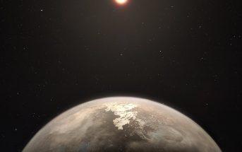 Wizja artystyczna Ross 128b / Credits - ESO/M. Kornmesser