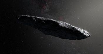 Wizja artystyczna silnie wydłużonego obiektu 1I/2017 U1 / ESO/M. Kornmesser