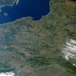 Poland as seen from space (NASA processed image from 2000) / Credits - NASA