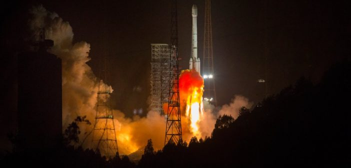 Start CZ-3B z AlComSat-1 - 10.12.2017 / Credits - CCTV