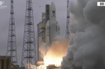 Start Ariane 5 z czterema satelitami Galileo / Credits - Arianespace