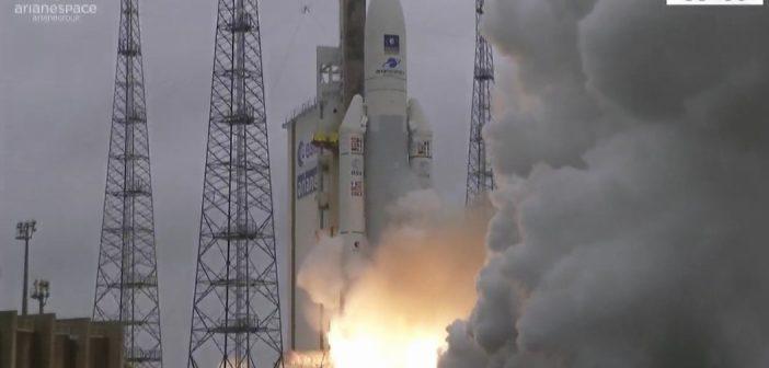 Ariane 5 wynosi cztery satelity Galileo