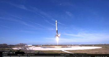 Lądowanie pierwszego stopnia Falcona 9R -15.12.2017/ Credits - SpaceX