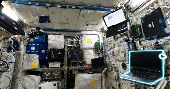 Wnętrze modułu Columbus w aplikacji International Space Station Tour VR / Credits - The House of Fables
