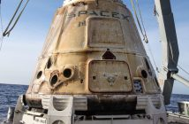 Kapsuła Dragon po podjęciu po zakończeniu misji CRS-13 / Credits - SpaceX