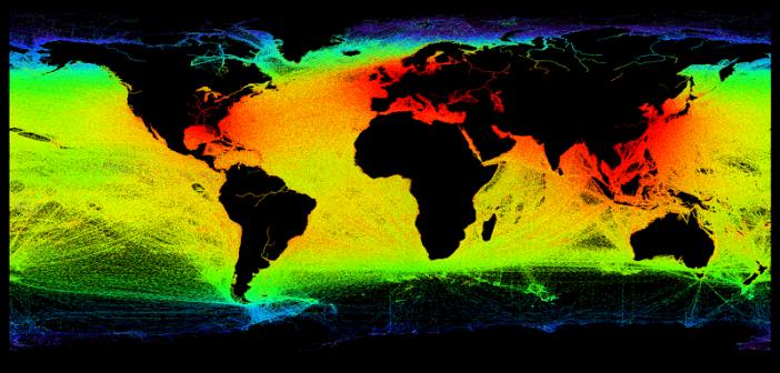 Satelity malują dokładny obraz aktywności statków morskich