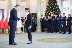 Jadwiga Emilewicz i Prezydent Andrzej Duda / Credits - KPRM