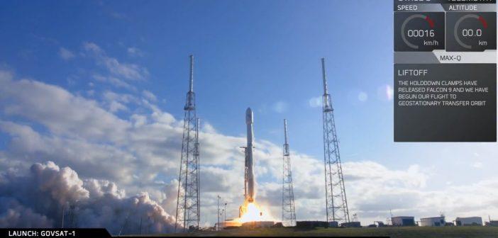 Udany start Falcona 9 (31.01.2018)