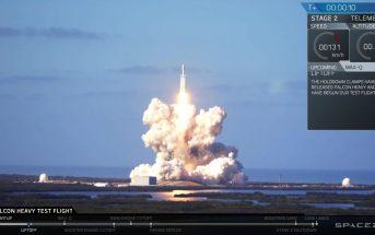 Start Falcona Heavy - 06.02.2018 / Credits - SpaceX