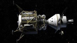 Ostatnia konfiguracja programu Constellation: kapsuła Orion i lądownik Altair / Credits - NASA