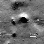 Zaobserwowane potencjalne wejścia do jakskini lawowej / Credits - NASA/LunarReconnaissanceOrbiter/SETI Institute/Mars Institute/PascalLee