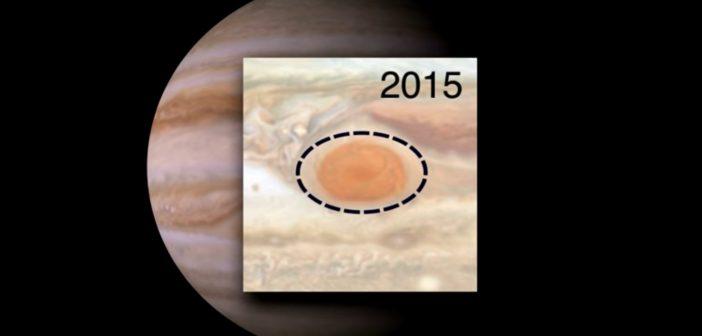 Porównanie wielkości WCP w 1995 i 2015 roku / Credits - NASA, JPL