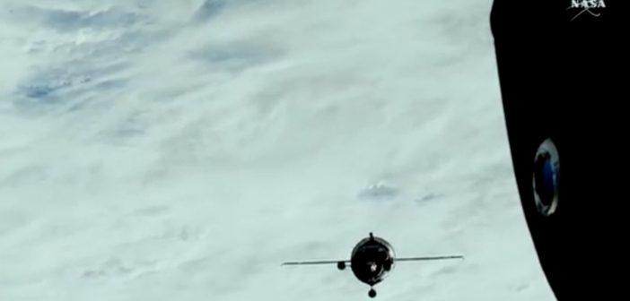 Sojuz MS-08 dociera do ISS / Credits - NASA TV