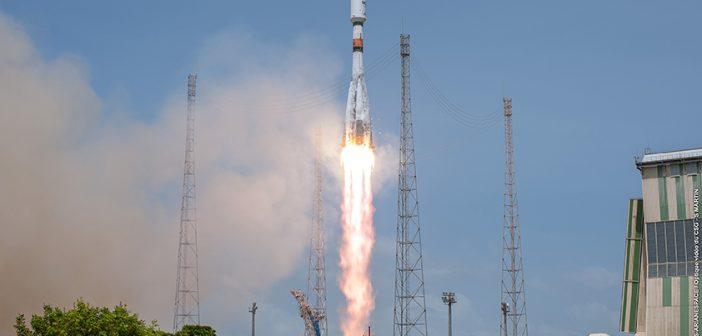 Udany lot Sojuza-STB z satelitami O3b (09.03.2018)