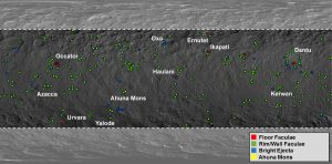 Lokalizacja jasnych obszarów na Ceres / Credits - NASA/JPL-Caltech/UCLA/MPS/DLR/IDA/ASI/INAF