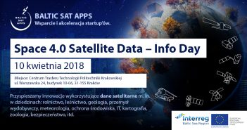 Space 4.0 Satellite Data Info Day w Krakowie (10.04.2018)