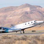 VSS Unity ląduje po pierwszym locie rakietowym / Credits - Virgin Galactic
