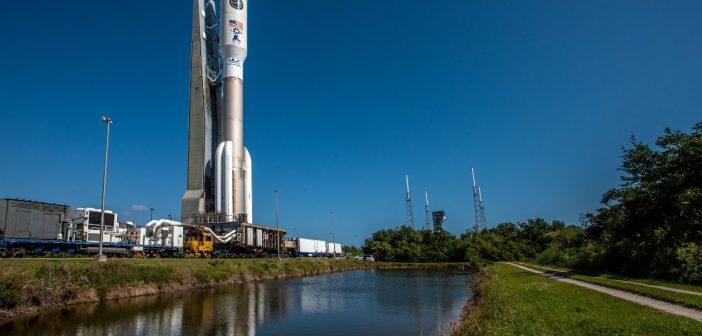 Wyprowadzanie rakiety Atlas 5 do misji AFSPC-11 (zdjęcie z 13.04.2018)/ Credits - ULA