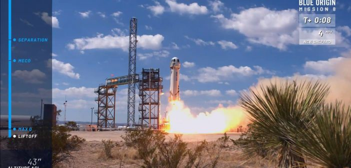 Start rakiety New Shepard - 29.04.2018 / Credits - Blue Origin