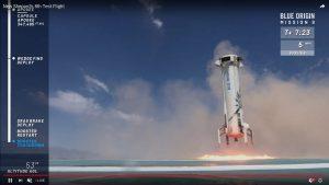 Udane lądowanie rakiety New Shepard /  / Credits - Blue Origin