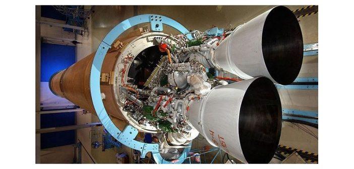 Pierwszy człon rakiety Atlas V z silnikiem RD-180 / Credits: NASA