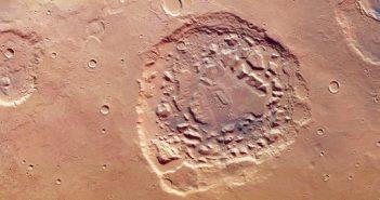 Ismenia Patera widziane z sondy Mars Express / credits: ESA/DLR/FU Berlin