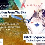 Plakat konferencji Space 4.0: Solution from the Sky / Credits - KPT
