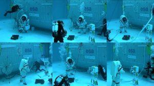 Prace w symulowanym ciążeniu / credits: ESA/COMEX