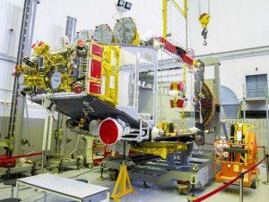 Błagowiest 2 podczas budowy / Credits - ISS Reshetnev