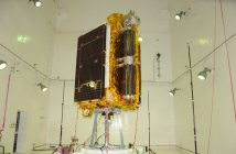 GSat-6A podczas przedstatowych testów akustycznych / Credits - ISRO