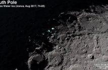 Spojrzenie na pokłady lodu na południowym biegunie Księżyca z danych LRO / Credits - NASA