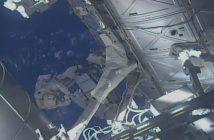 Prace astronautów podczas EVA-50 / Credits - NASA TV