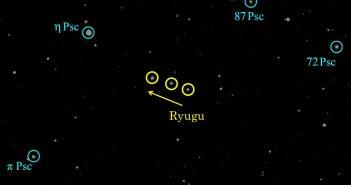Obserwacje planetoidy Ryugu w dniach 11-14 maja 2018 / Credits - JAXA, Kyoto University, Japan Spaceguard Association, Seoul National University