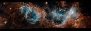Widok teleskopu Herschel na młode gwiazdy i obłoki molekularne / credits: ESA/Herschel/NASA/JPL-Caltech