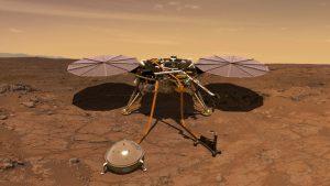 Lądownik InSight na Marsie / credits: NASA/JPL-Caltech