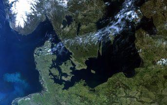 Obraz części Europy z satelity Sentinel-3A z 8 maja 2018 / Credits - Copernicus Sentinel data (2018), processed by EUMETSAT, CC BY-SA 3.0 IGO